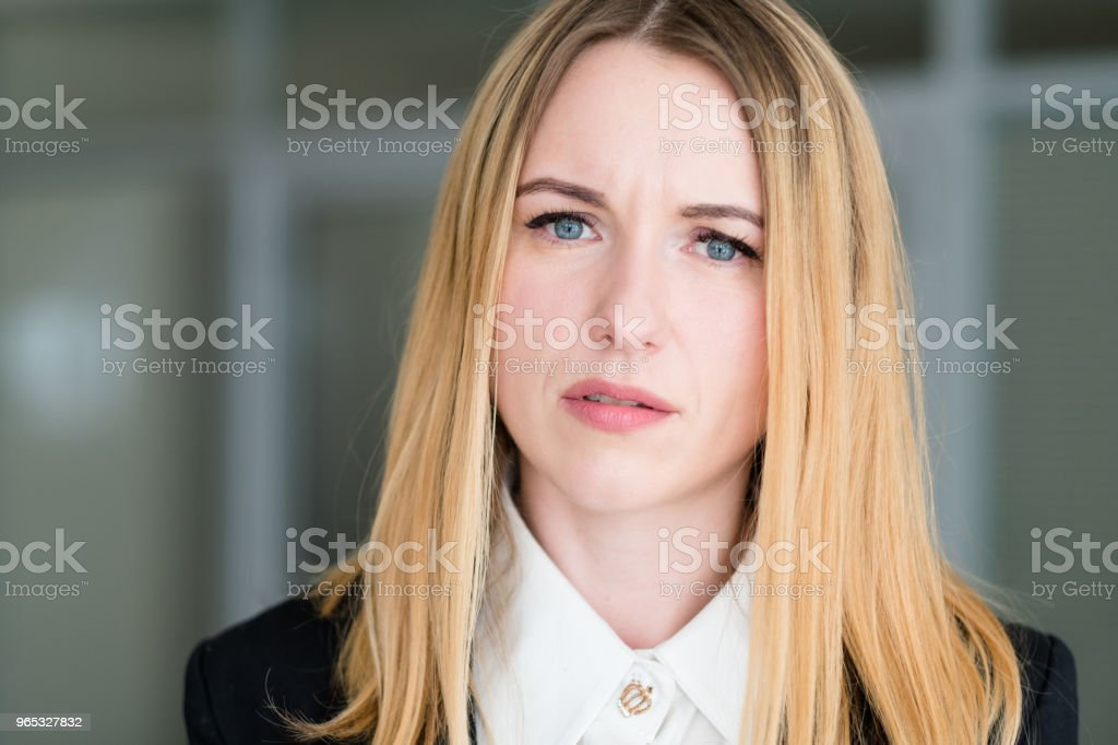 emotion face woman interrogative questioning look royalty-free stock photo
