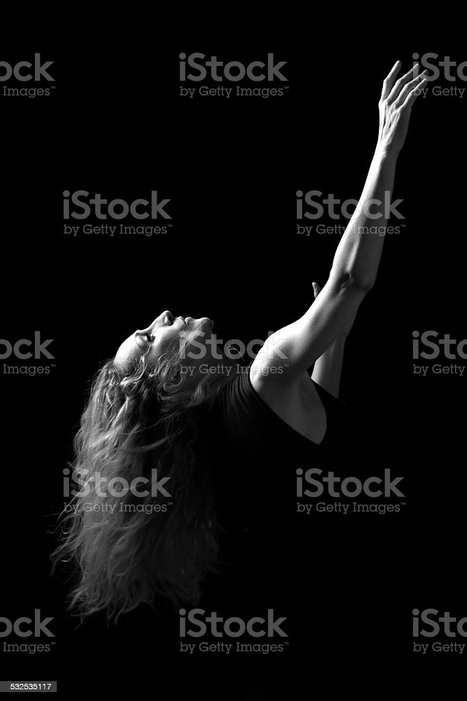 Emotion in motion 6 stock photo