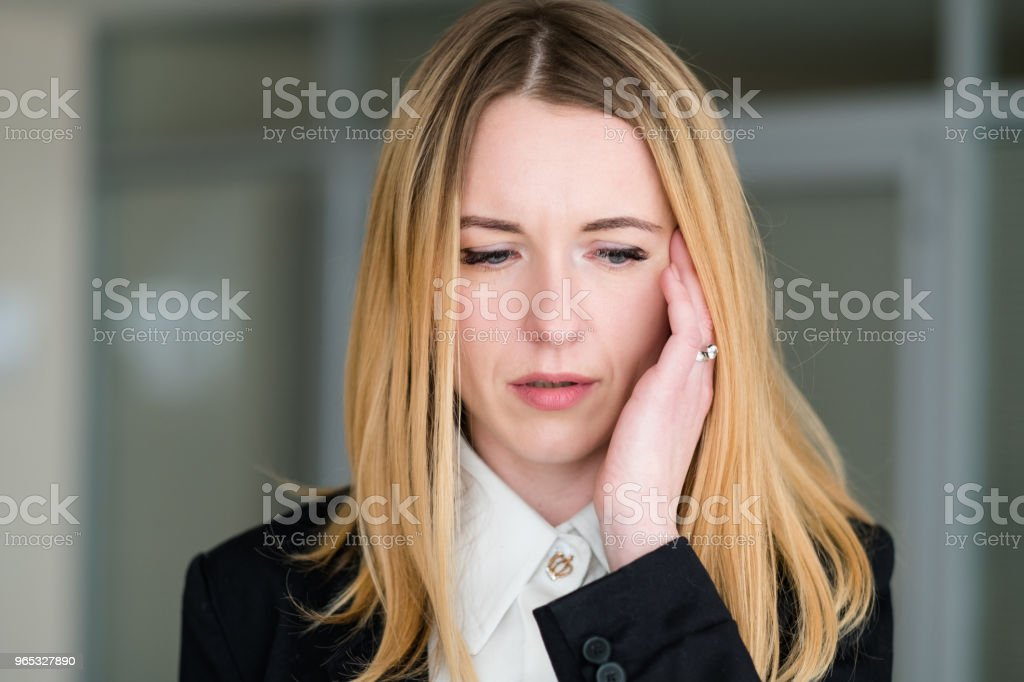 emotion upset confused dismayed business lady royalty-free stock photo