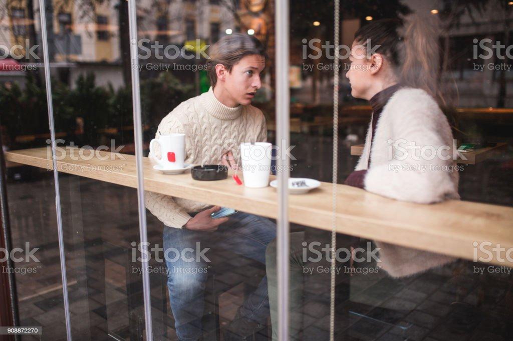 Emotional Break Up stock photo