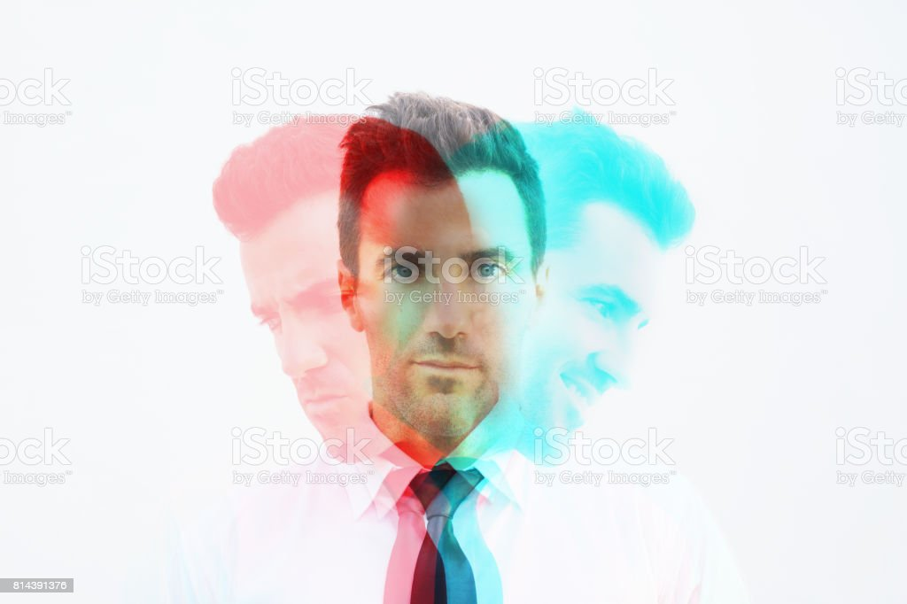 Emotional controlling stock photo