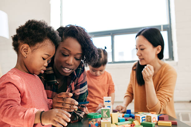 Emotional development and social activity stock photo