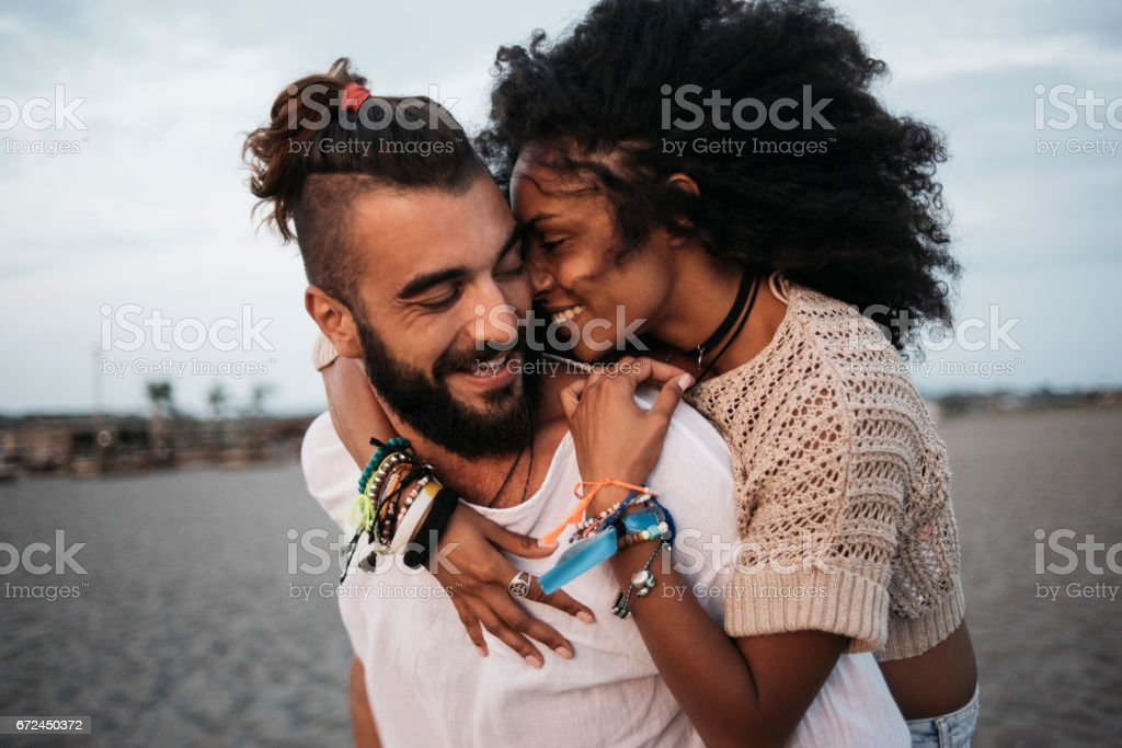 Emotional hugg stock photo
