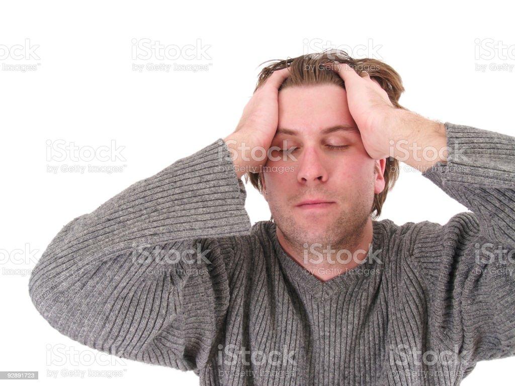 Emotional Man royalty-free stock photo