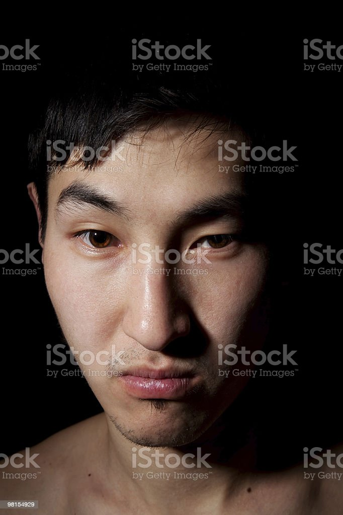 Emotional portrait royalty-free stock photo