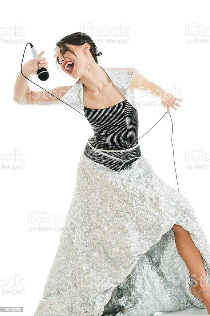 Emotional singer royalty-free stock photo