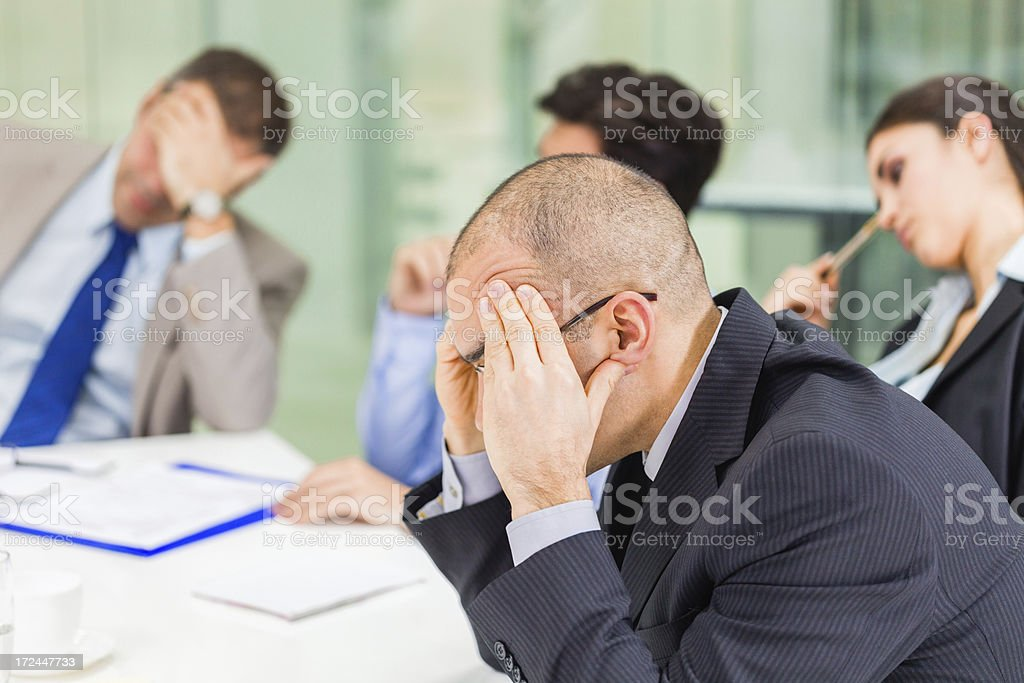 Emotional stress at work royalty-free stock photo