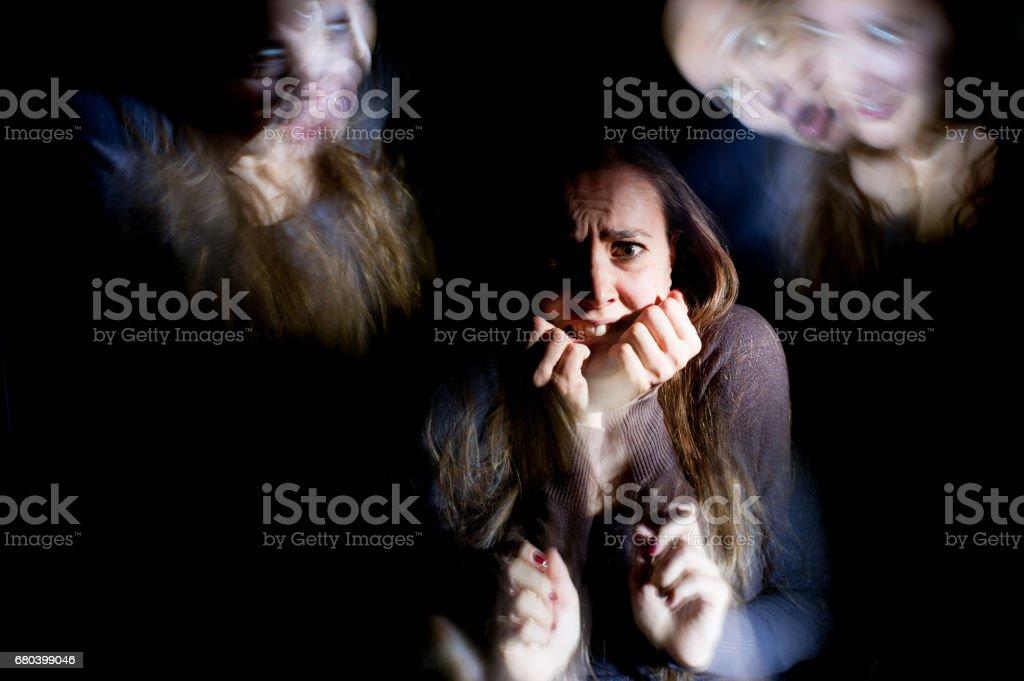 Emotional Stress Ilusions stock photo