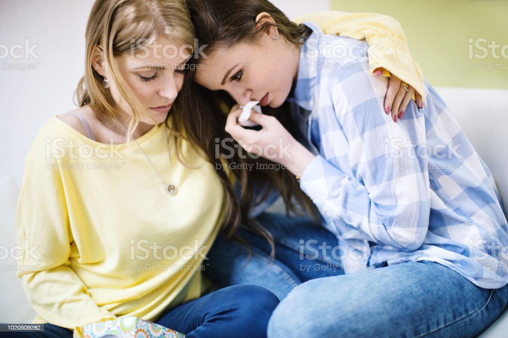 Emotional support. stock photo