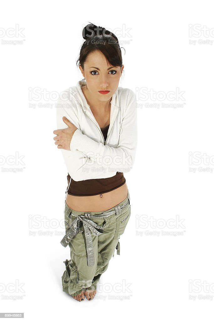 Emotional Young Woman royalty-free stock photo