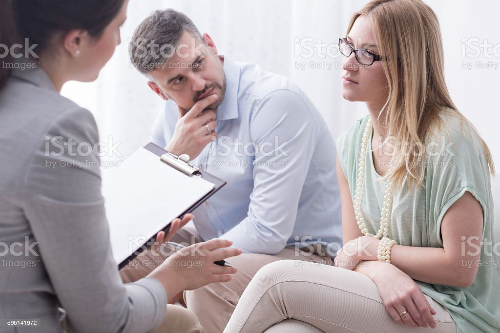 Emotionally tired of constant relationship problems stock photo