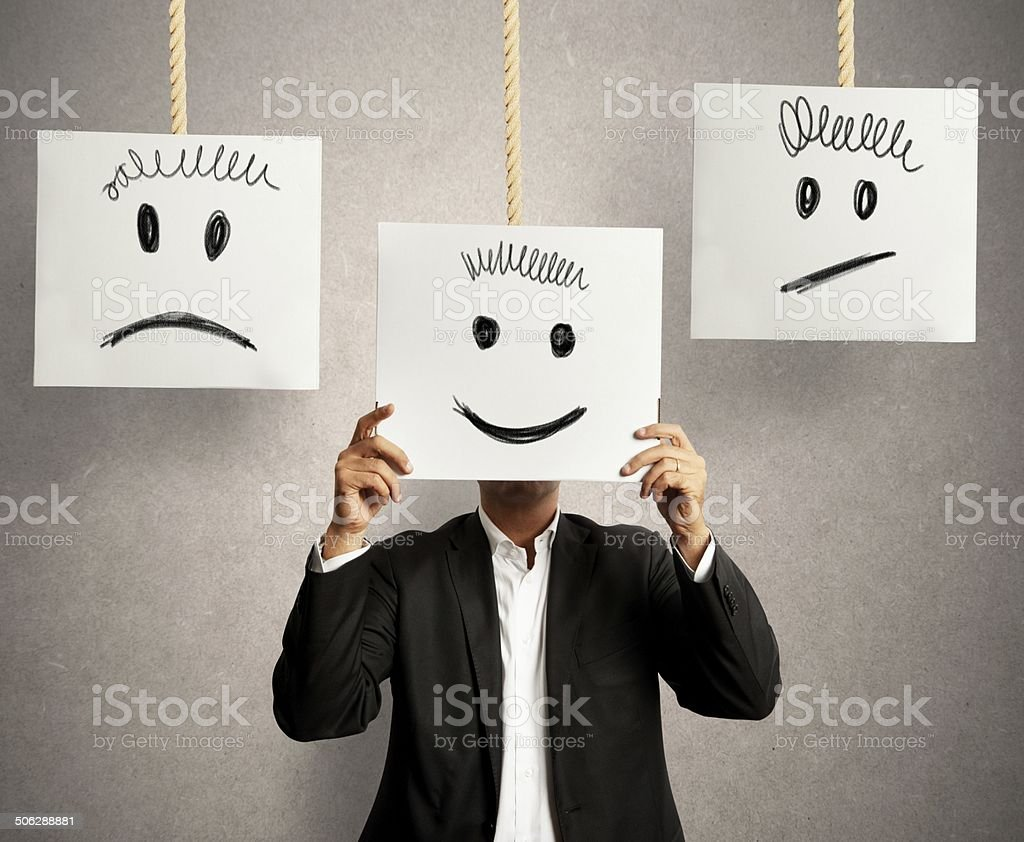 Emotions in business stock photo