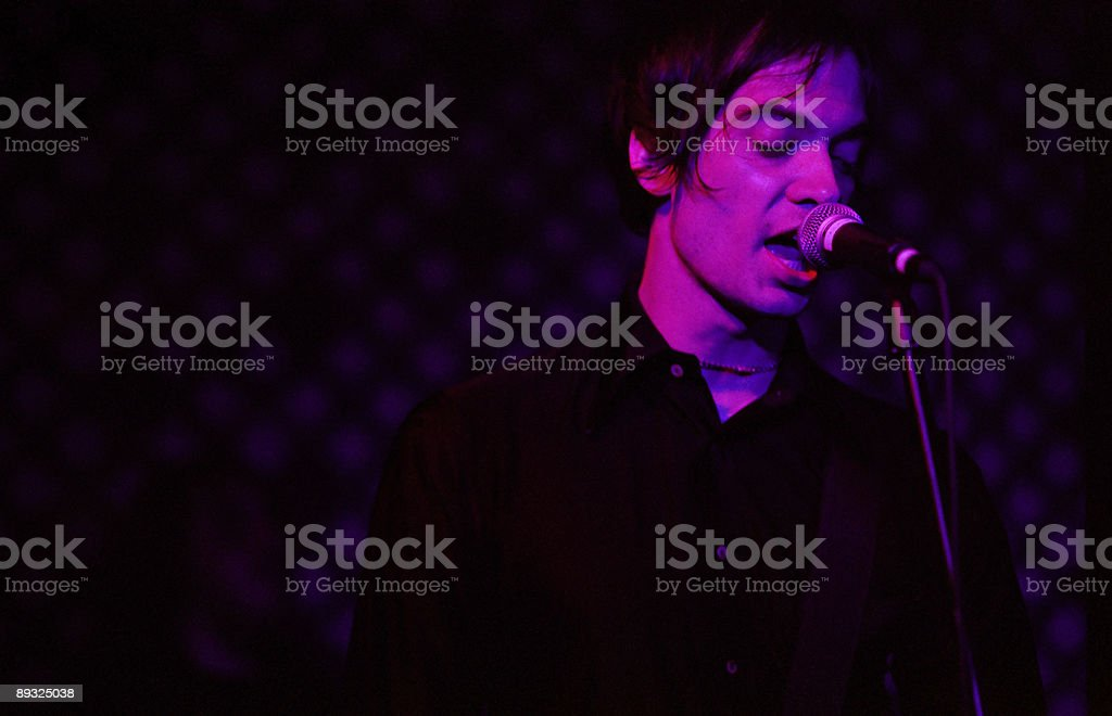 Emotive Rock Singer stock photo
