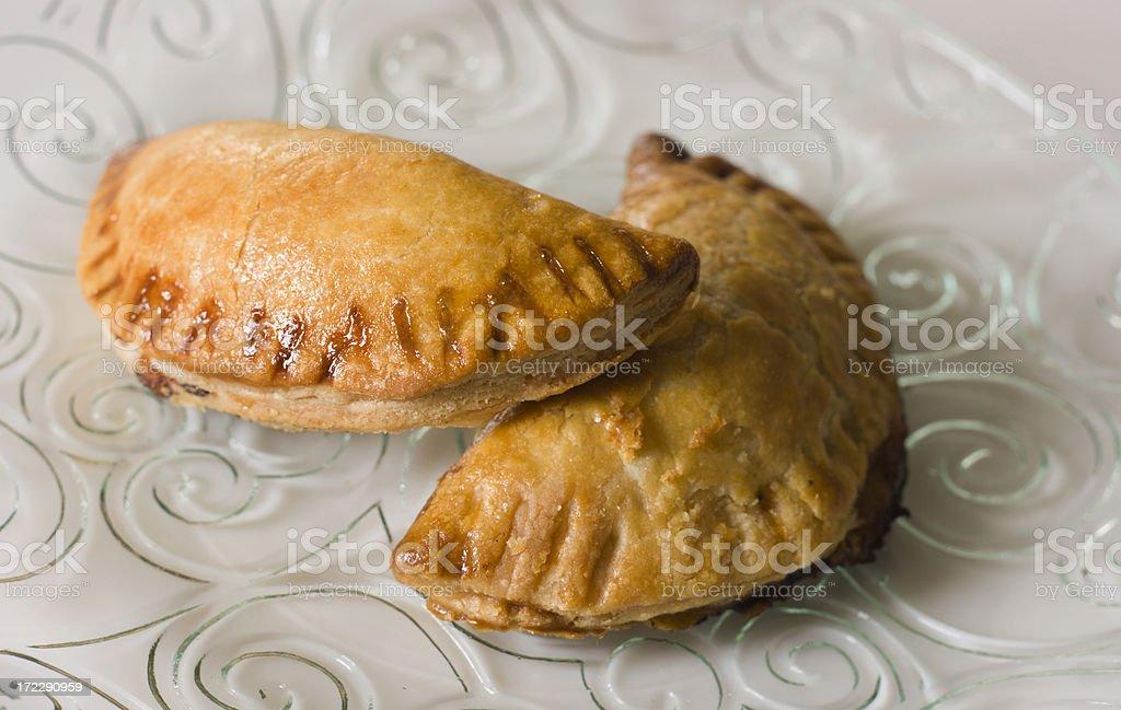 Empanadas on Plate royalty-free stock photo
