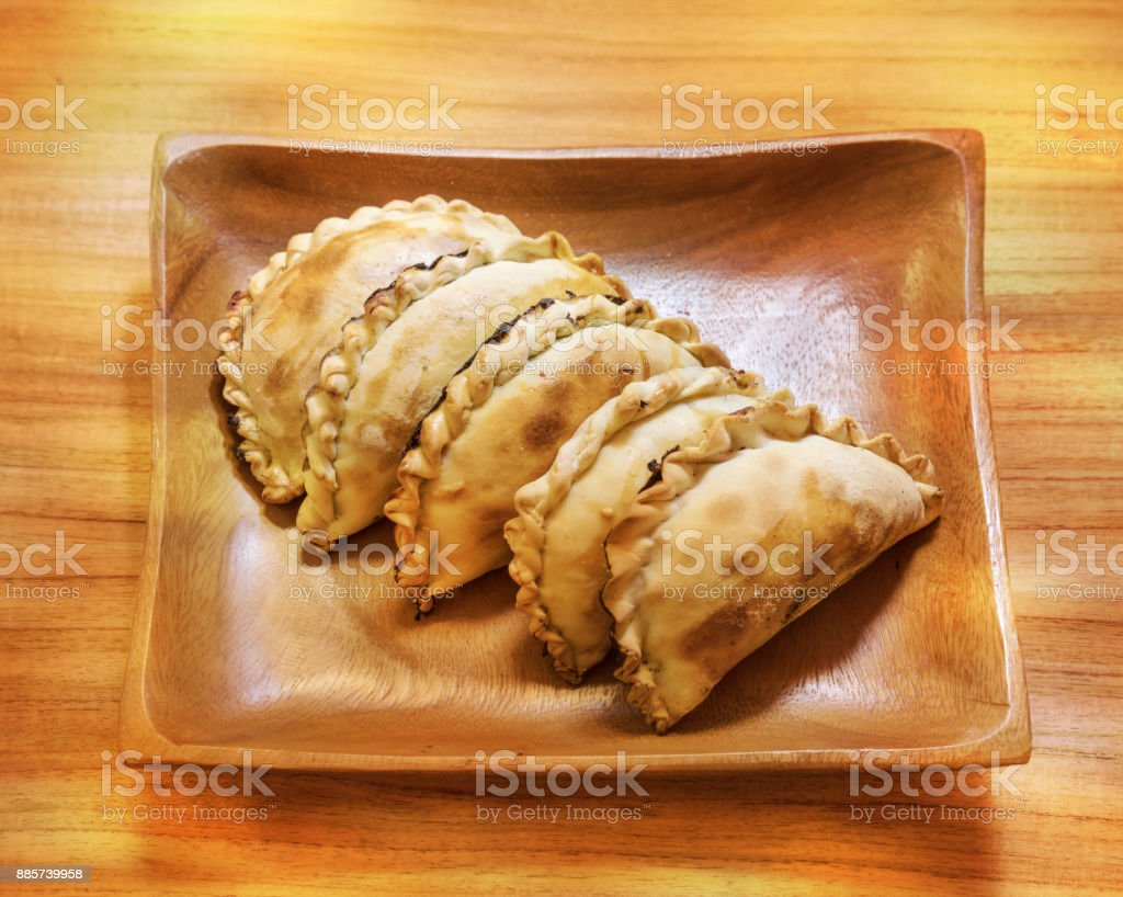 Empanadas typical local food in Buenos Aires Argentina stock photo