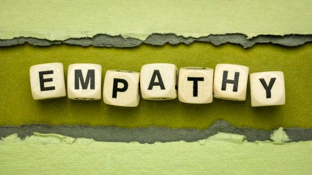 empathy word abstract in wood cubes stock photo