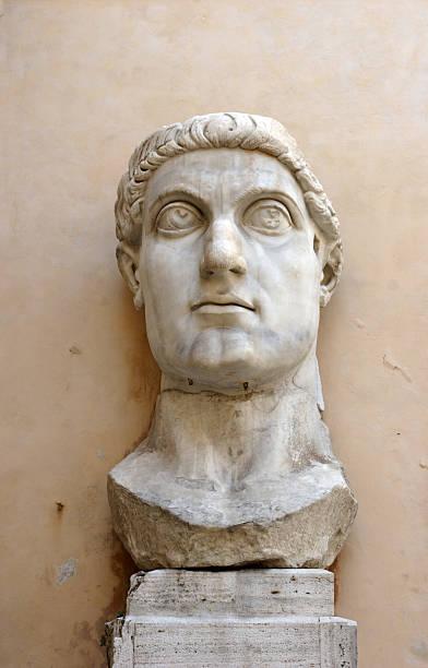 Emperor Constantine Statue stock photo
