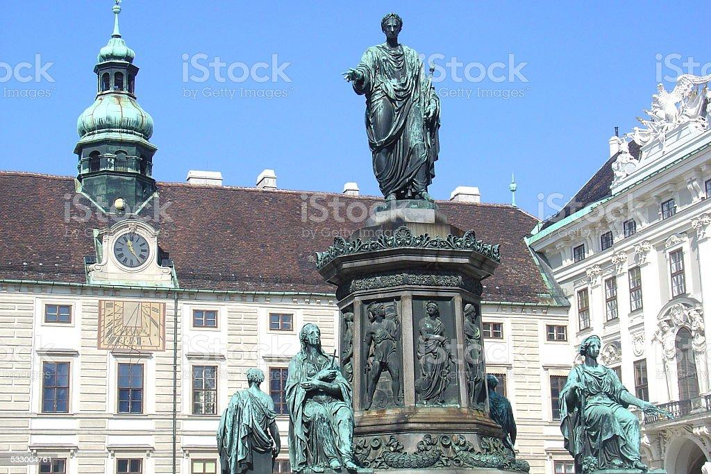 Emperor Franz I sculpture monument, Vienna, Austria stock photo