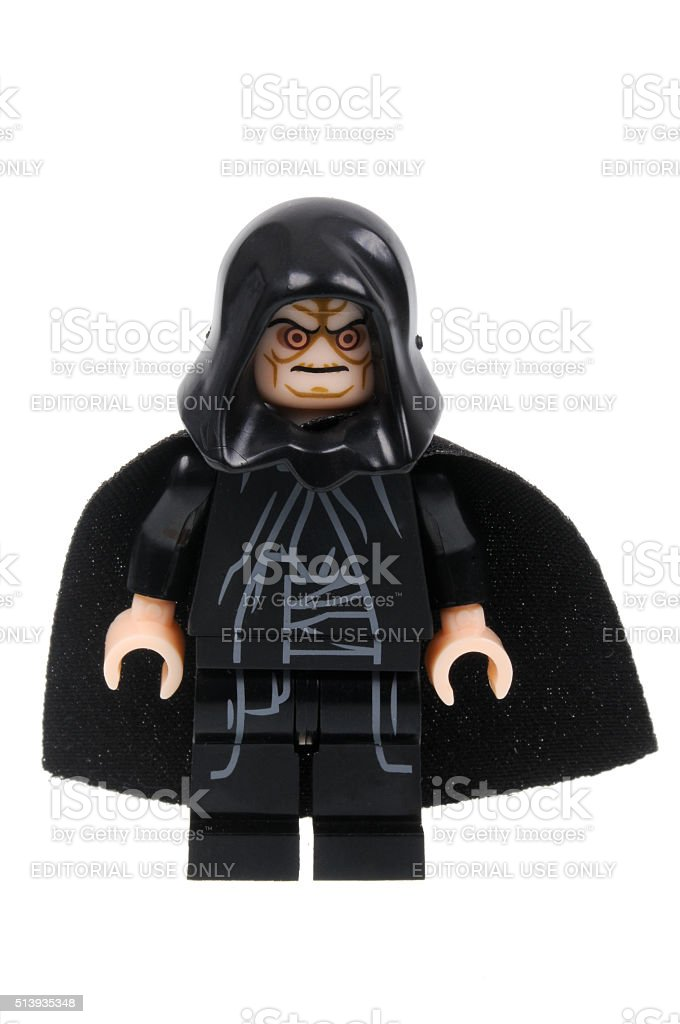 Emperor Palpatine Minifigure stock photo
