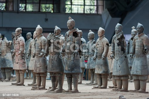 istock Emperor Qin Shihuang Mausoleum of terracotta soldiers broken ruins of the Xi'an City, Shaanxi Province, China 974811606