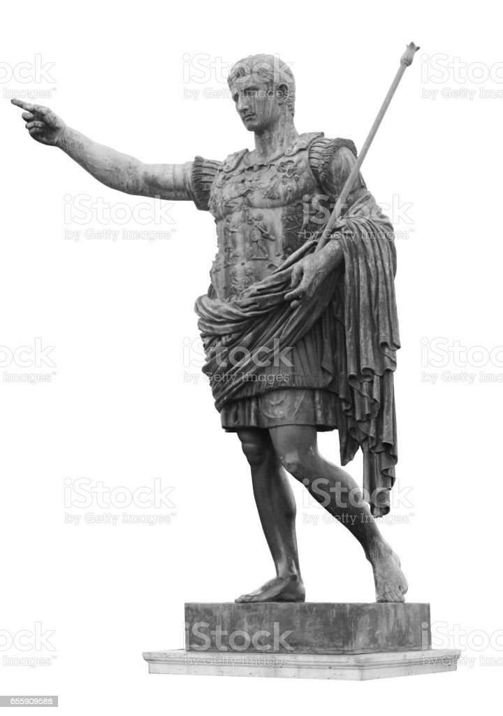 Emperor Roman Sculpture stock photo