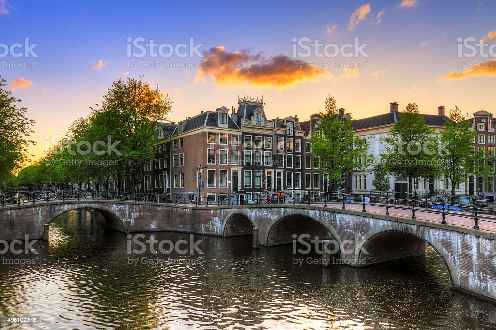 Emperors canal sunset stock photo