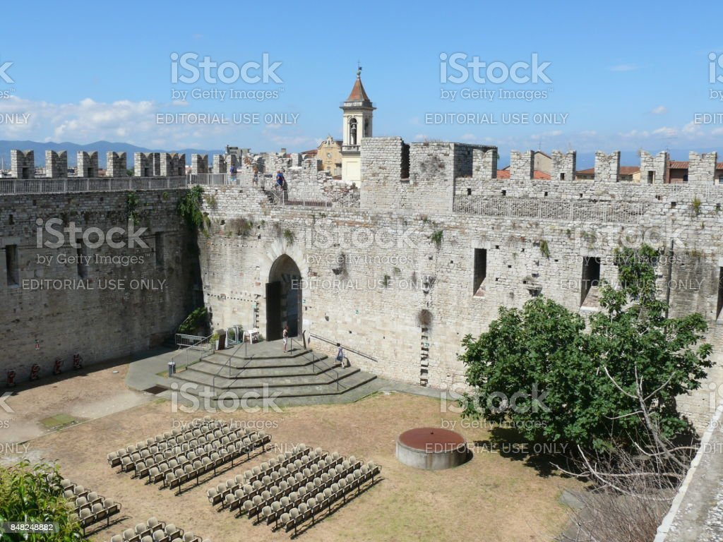 Emperor's Castle in Prato, Italy stock photo