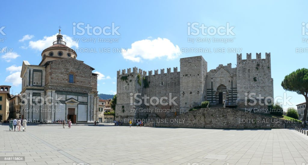 Emperor's castle in Prato stock photo