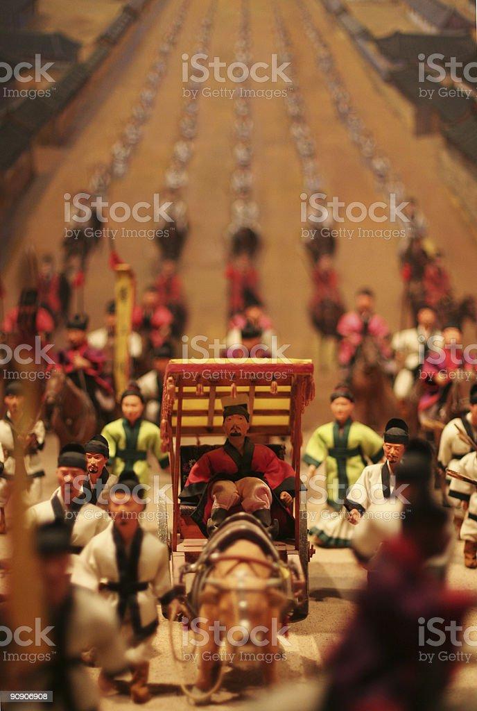 Emperor's Entourage royalty-free stock photo