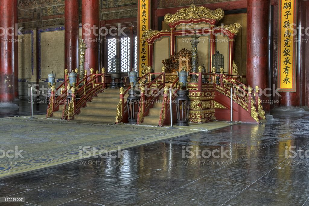 Emperors Throne royalty-free stock photo