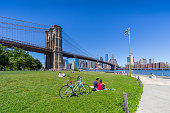 istock Empire Fulton Ferry Park riverside park in Brooklyn 1252506389