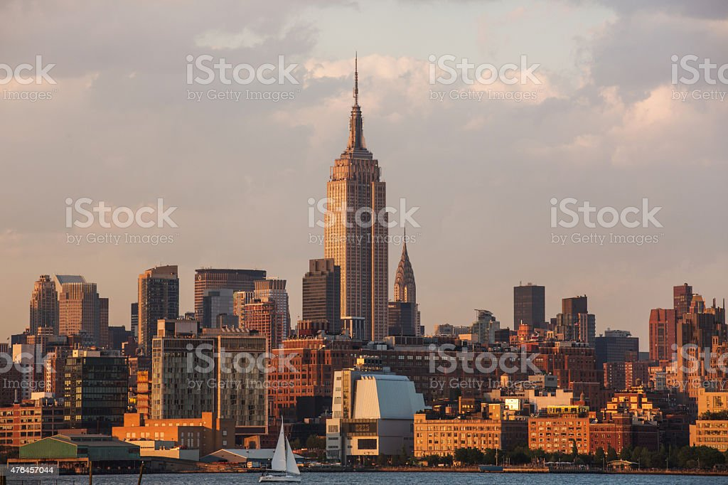 Empire State and Chrysler Buildings stock photo