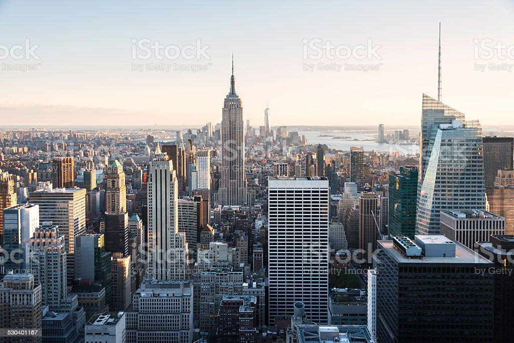 Empire State and New York skyline stock photo