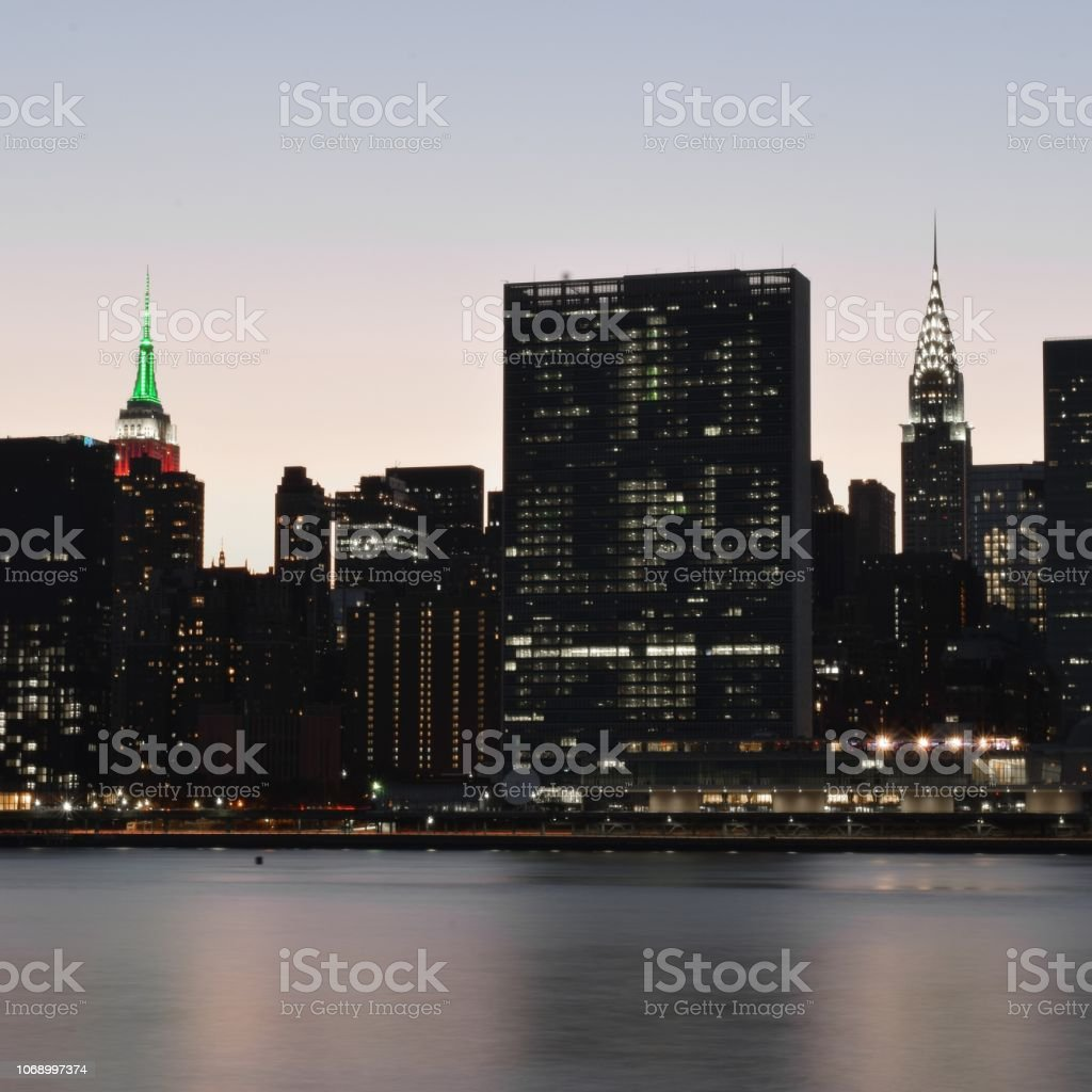 Empire State Building and Chrysler Building stock photo