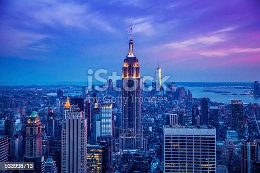 istock Empire State Building at night 533998713