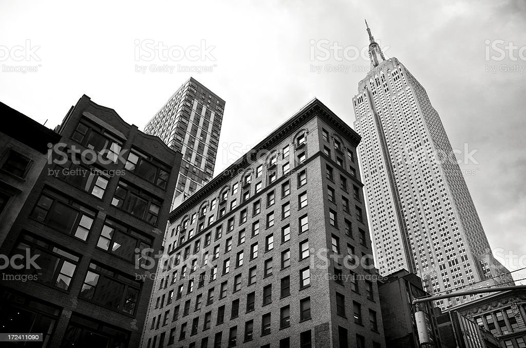 Empire State Building Cityscape, 5th Avenue, Manhattan, New York City royalty-free stock photo