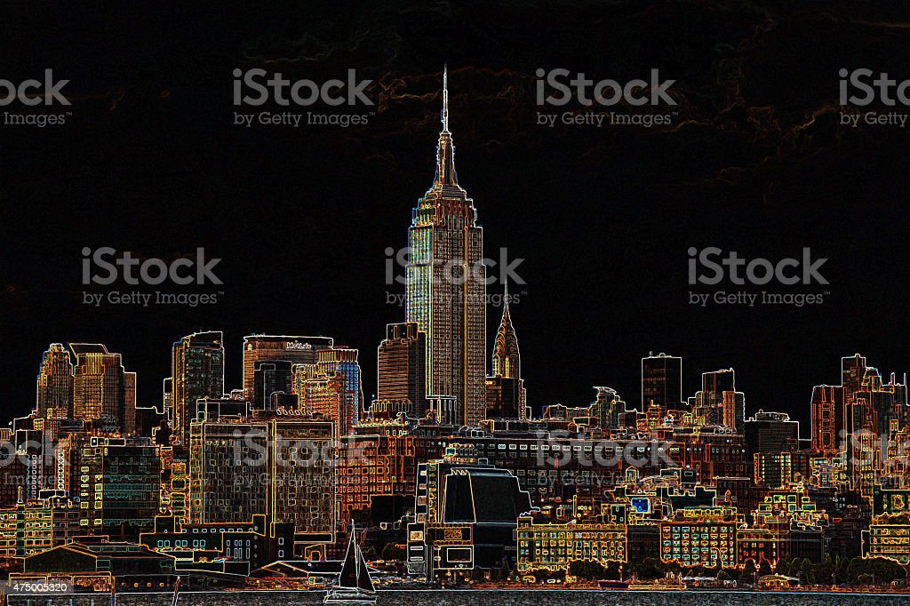 Empire State Building Collection stock photo