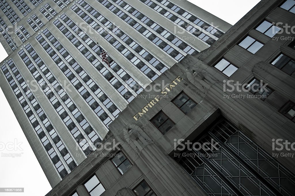 Empire State building from the street NY royalty-free stock photo