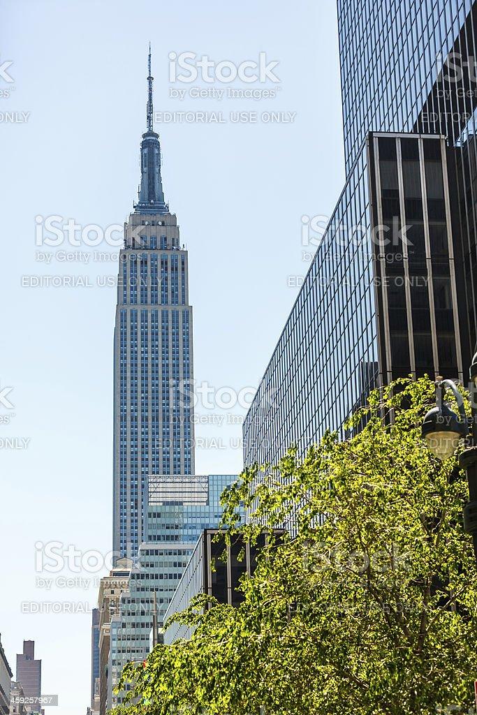 Empire State Building, Midtown Manhattan, New York City, USA royalty-free stock photo