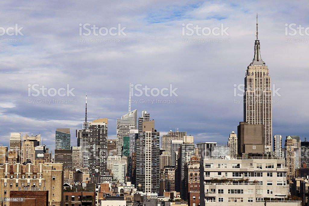 Empire State Building Midtown Manhattan Skyline New-York royalty-free stock photo