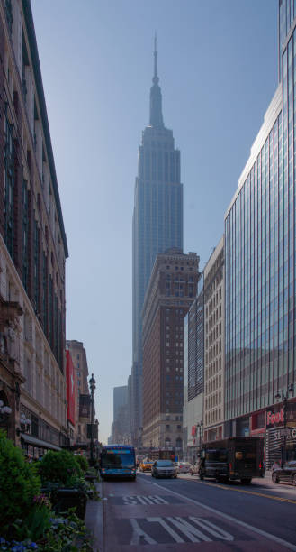 Empire State Building On 34th Street in Morning Sun