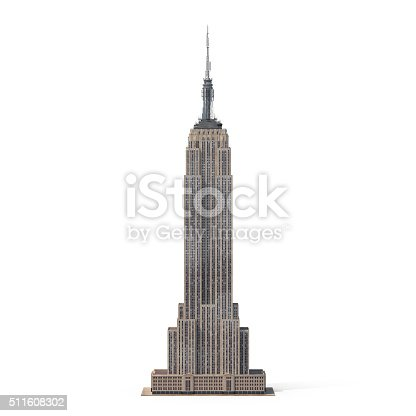 An isolated image of the Empire State Building