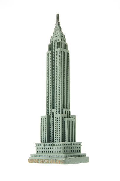 Empire State Building Souvenir Empire State Building Souvenir on White Background empire state building stock pictures, royalty-free photos & images