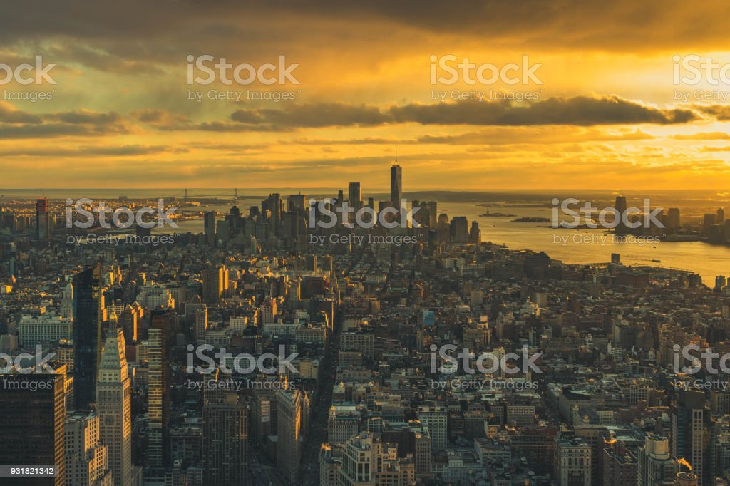 Empire State of Sunsets stock photo