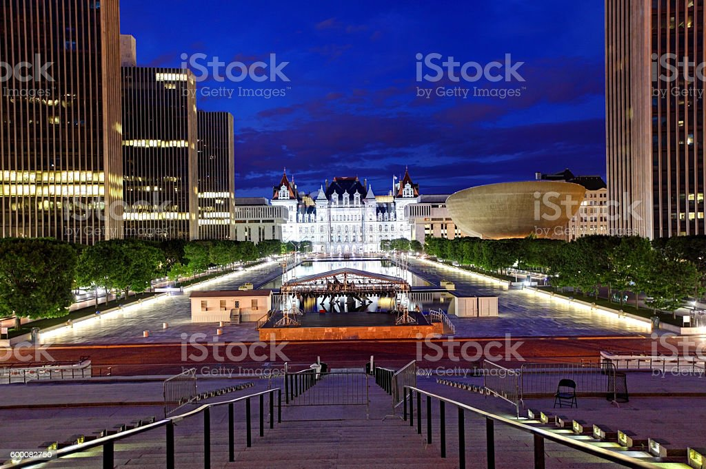 Empire State Plaza in Albany stock photo