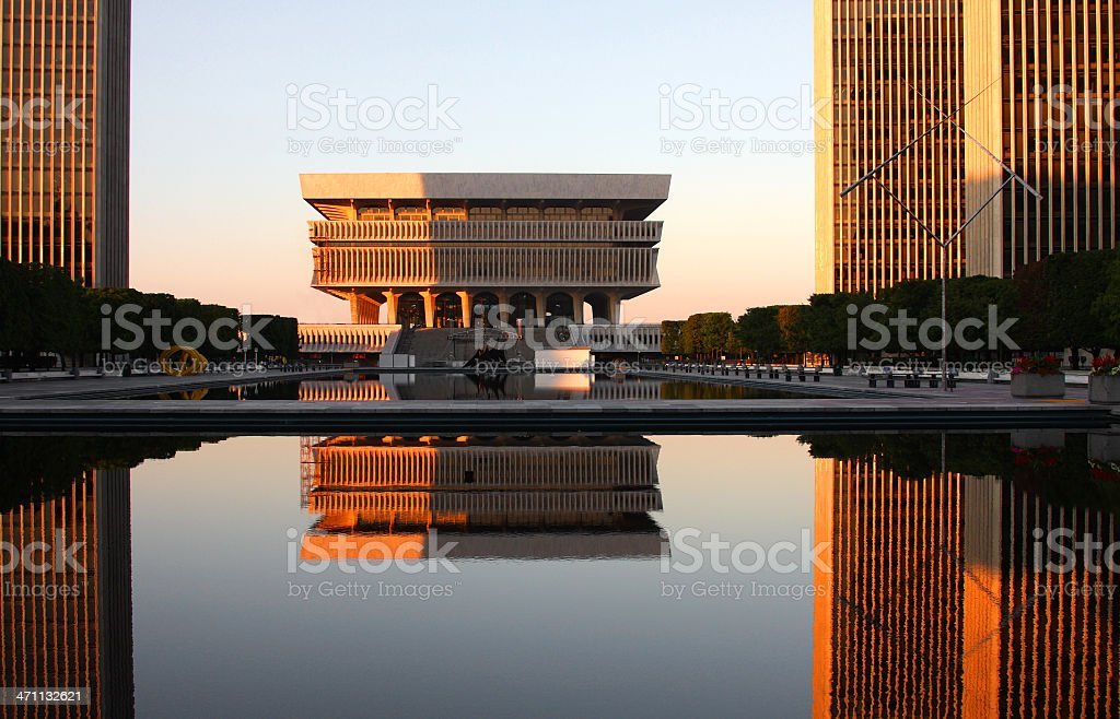 Empire State Plaza stock photo