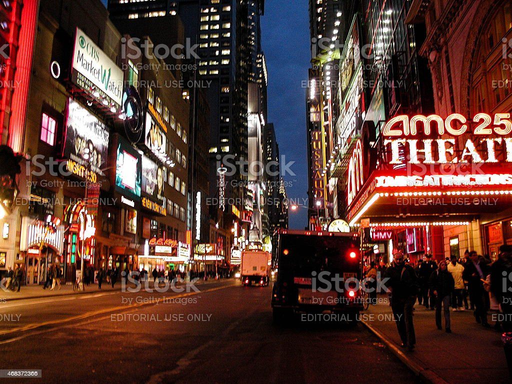 AMC 25 Empire Theater in Times Square stock photo