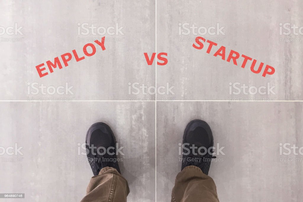Employ VS Startup royalty-free stock photo