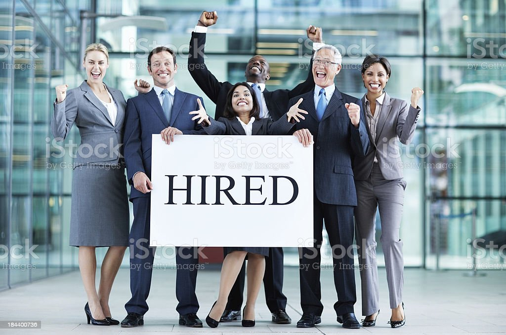 Employed business people stock photo