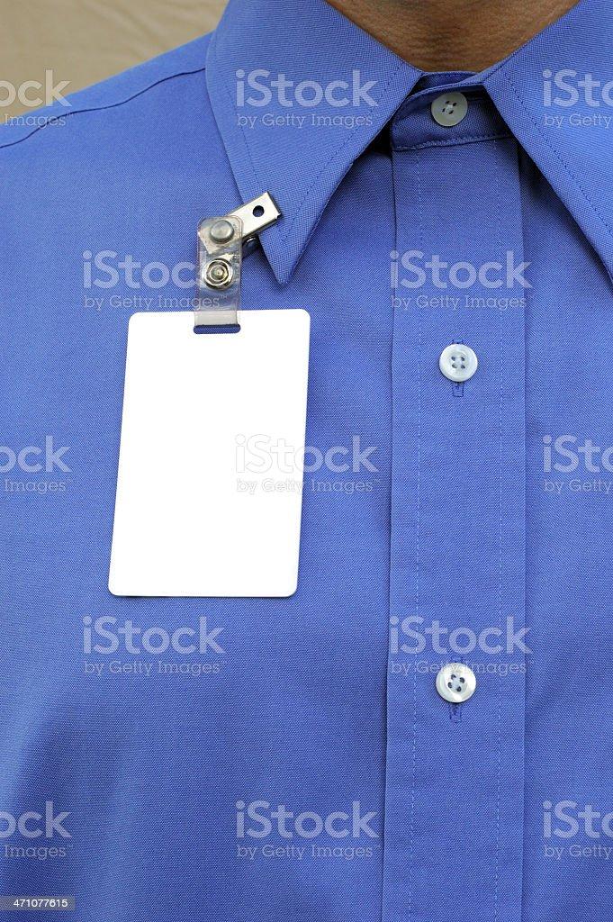Employee and Badge stock photo